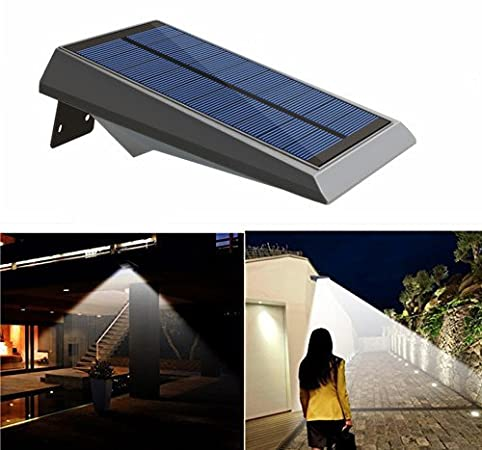 Falove solar lights 18 led outdoor solar gutter motion sensor falove solar lights 18 led outdoor solar gutter motion sensor detector lights security lighting with dusk aloadofball Images