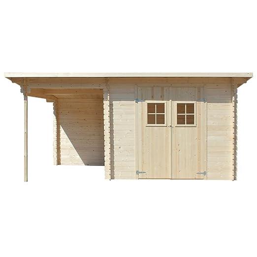 vidaXL - Cobertizo de Madera Maciza para Jardín (28 mm, 5, 3 x 3 m, 6, 3 x 3 m): Amazon.es: Bricolaje y herramientas