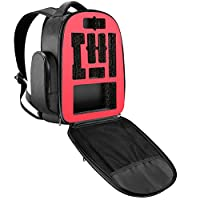 Neewer Drone Backpack Case for DJI Mavic Pro Quadcopter, Transmitter, Battery and other Accessories - Shockproof, Adjustable Padded, Shoulder Bag with Foam Hard Plastic Inlay (Black)