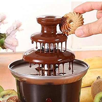 J-JATI 3-Tier Chocolate Fountain Stainless Steel, Red
