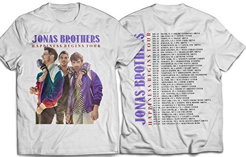 Springtee Jonas-Hapiness 2019 Tour Concert Summer White - Concert T-shirt Tour