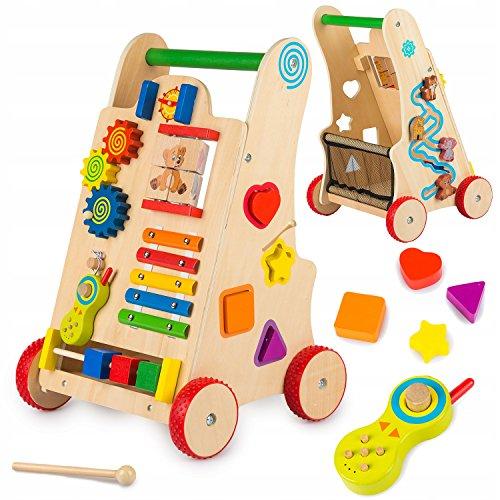 Kinderplay loopwagen loophulp loopwagen loopvrij hout – baby walker van hout speel en loophulp van hout…