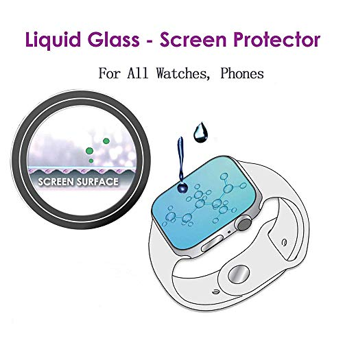 AOKER Original Nano Liquid Screen Protector, Scratch Resistant 9H Hardness  for All Watches Glasses,Compatible iWatch (42mm Series 3/2/1 44mm Series 4