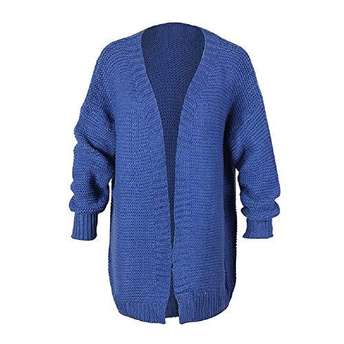 Veste coloré Unique Pull Élégant Hiver Long Bleu Taille Bleu Oudan Femme qBORBt