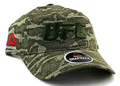 UFC Reebok New MMA Camo Camouflage Slouch Relaxed Dad Era Snapback Hat Cap by Reebok