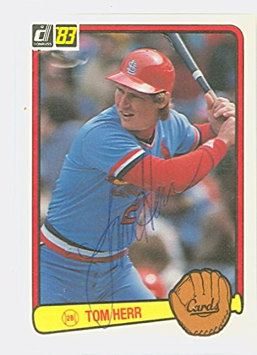 1983 St Louis Cardinals (Tom Herr AUTOGRAPH 1983 Donruss #217 St. Louis Cardinals)