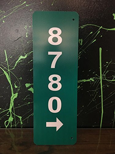 Custom Reflective Green 911 Address Aluminum Sign with Arrow on Both Sides by Granite City Graphics