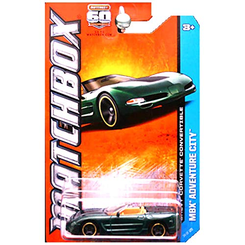 Matchbox 2013 Adventure City Chevrolet Chevy Corvette Convertible Green with Tan