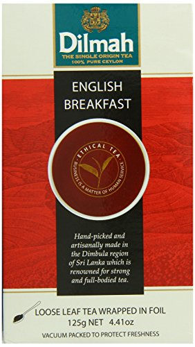 Dilmah Gourmet Single Origin Loose Leaf Tea, English Breakfast, 4.4 Ounce