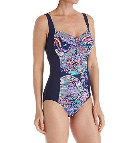 Christina Balit Batik D-Cup One Piece Swimsuit (BB5118D) 34D/Multi