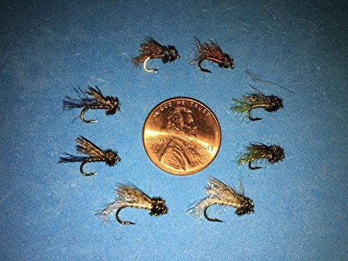 Caddis Pupa Bead (Fly Fishing Flies Asst. CADDIS EMERGERS (NYMPH/PUPA) size #14-16 (8 pc.))