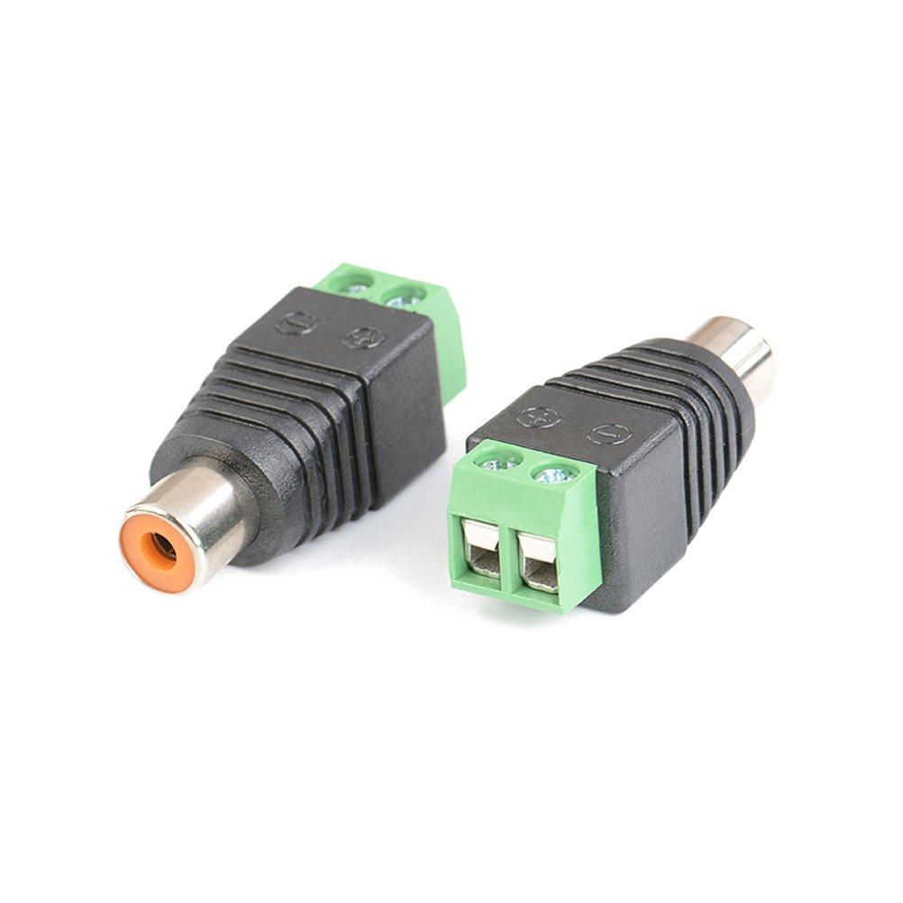 UKCOCO 20pcs BNC Terminal macho Balun conector DC adaptador de corriente para cámara CCTV: Amazon.es: Industria, empresas y ciencia