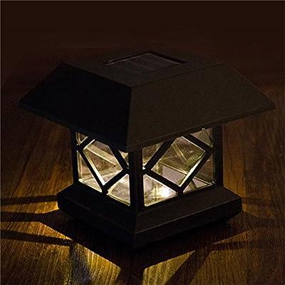Zehui Outdoor Garden Solar LED Post Deck Cap Auto Sensor Fence Light Landscape Lamp Solar Fence Post Cap Lights