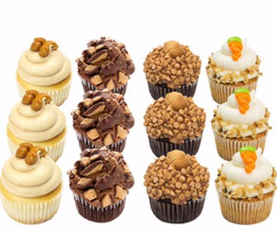 Cupcakes - Nut Lovers - Peanut Butter - Dessert - 12 Pack Assortment - Baked Fresh Day of Order by House of Cupcakes (Image #3)