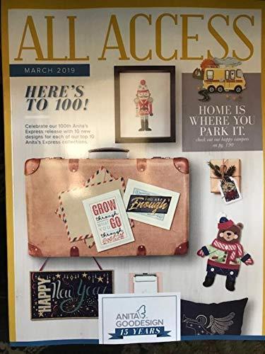 Anita Goodesign All Access VIP Club March 2019 Embroidery Design CD & Book