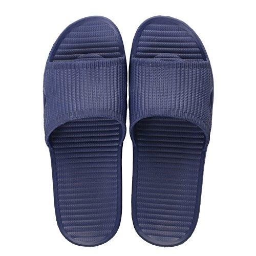 pantofole blu antiscivolo scuro uomini fondo donne traspirante morbido Estate moda indossare e pantofole sandali selvaggio casa bagno leggero coppie all'aperto Casa 40 BAOZIV587 e di E0CSwgqS