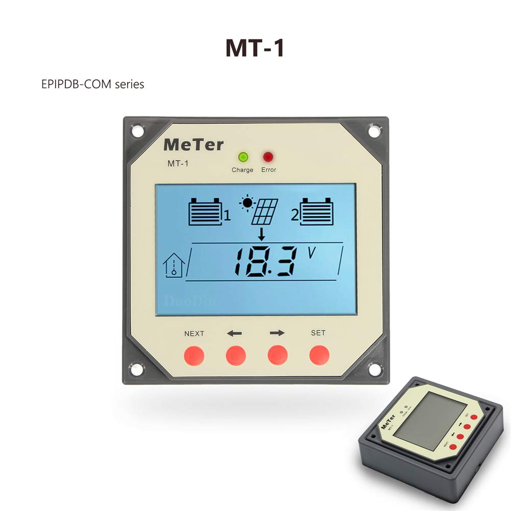 Fuhuihe EPEVER MT-1 Remote Meter LCD Display for Duo Battery Solar Panel Charge Controller by Fuhuihe