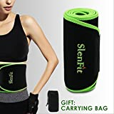 Waist Trimmer Sweat Belt for Fast Weight Loss Waist Trainer for Women & Men Adjustable Stomach Fat Burner Exercise Wrap - Back Brace Abdominal Muscle Lumbar Support
