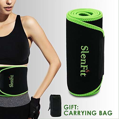 Waist Trimmer Sweat Belt for Fast Weight Loss Waist Trainer for Women & Men Adjustable Stomach Fat Burner Exercise Wrap - Back Brace Abdominal Muscle Lumbar Support by Singhi