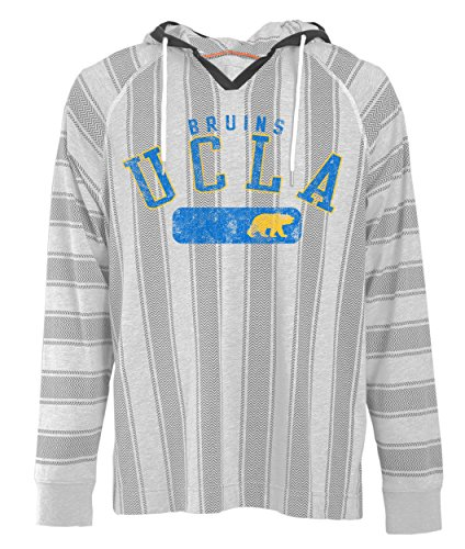 Camp David NCAA UCLA Bruins Men's Long Sleeved Pullover Hoodie, Large, Charcoal Oxford (Drawstring Ncaa Bruins Ucla)