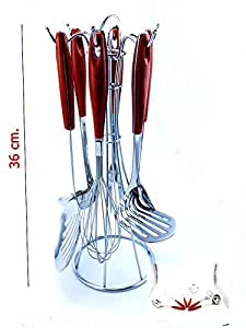 "KITCHEN STAINLESS UTENSILS "" SET OF SEVEN "" ELEGANT AND STRONG."