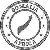 Somalia Map Africa Grunge Rubber Stamp Home Decal Vinyl Sticker 12'' X 12''