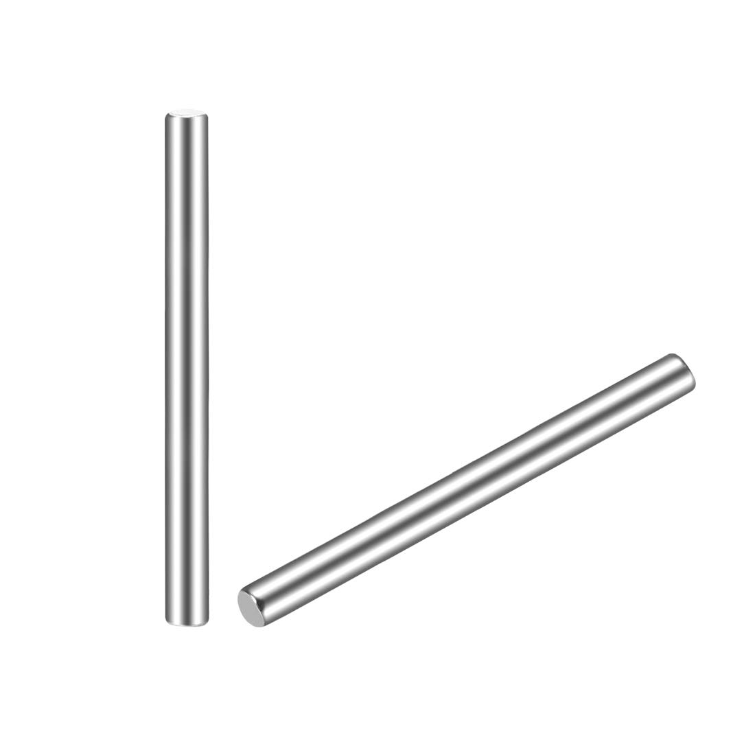 sourcing map 20Pcs 2mm x 18mm Dowel Pin 304 Stainless Steel Cylindrical Shelf Support Pin Fasten Elements Silver Tone