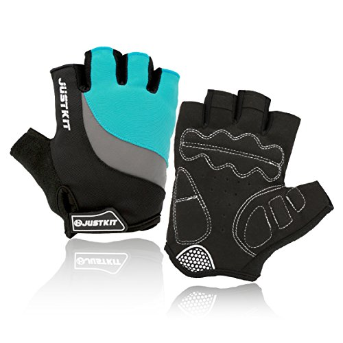 D&m Custom Cycle Support (JUSTKIT Cycling Gloves Mountain Bike Gloves Road Racing Bicycle Gloves Shockproof Gel Pad Breathable Riding Gloves Half Finger Biking Gloves (blue, XL))