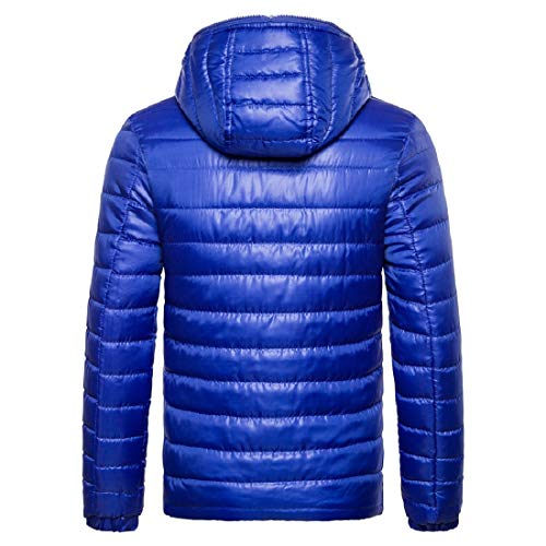 Light Zip Men Hood Color Weight Jacket Howme Winter Blue Pure Puffer Fall fqZFnxtxX