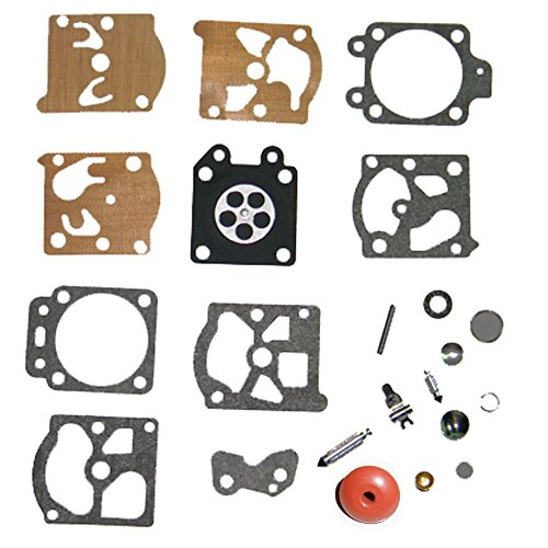 Valve Wat (HIPA K20-WAT Carburetor Rebuild Kit with Check Valve for Walbro Carb WA WT Series Carb Echo Poulan Trimmer Edger)