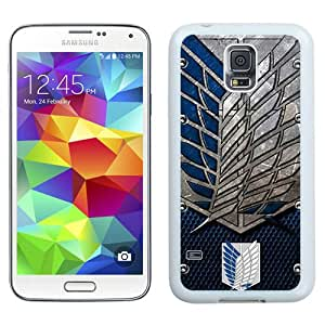 Unique And Lovely Designed Case For Samsung Galaxy S5 I9600 G900a G900v G900p G900t G900w With Attack On Titan Shingeki No Kyojin White Phone Case