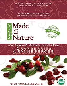 Made In Nature Organic, Cranberry, 24-Ounce