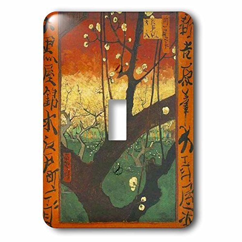 Florene Van Gogh Post Impressionism - Image of Van Gogh Painting Japanese Flowering Plum Tree - Light Switch Covers - single toggle switch (lsp_245108_1)