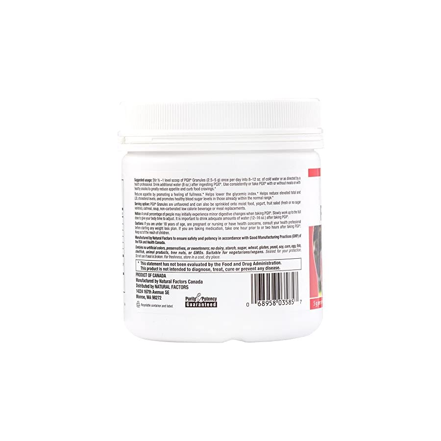 Natural Factors SlimStyles PGX Granules, 100% Pure PGX, Promotes a Normalized Appetite and Feeling of Fullness, 30 Servings (5.3 oz)