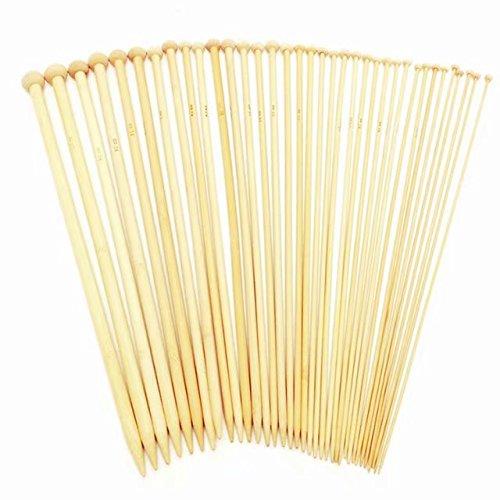 "Celine lin 18 sizes(32PCS) 10inch""(25CM) Bamboo Single Pointed Knitting Needles Set Crochet Tool Needle Arts Craft"