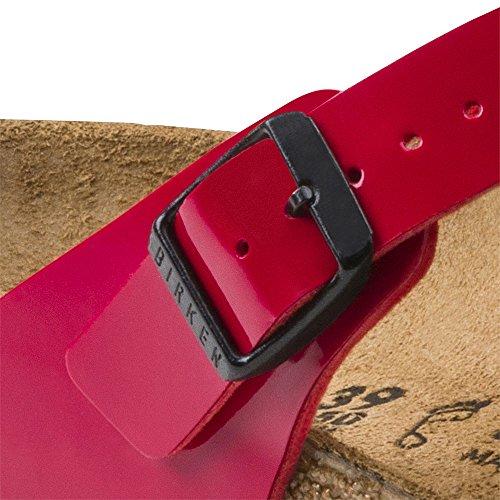 Birkenstock Gizeh Donna Birko-flor Sandalo Infradito T-strap, Rosso Tango (37 M Eu - 6-6,5 Us Donne)