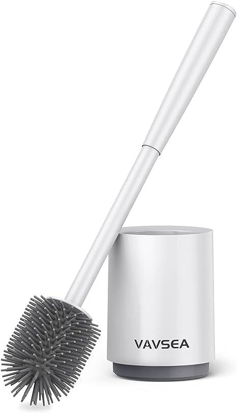Toilet Brush and Holder Silicone Toilet Bowl Brush Bathroom Cleaning Bowl Brush