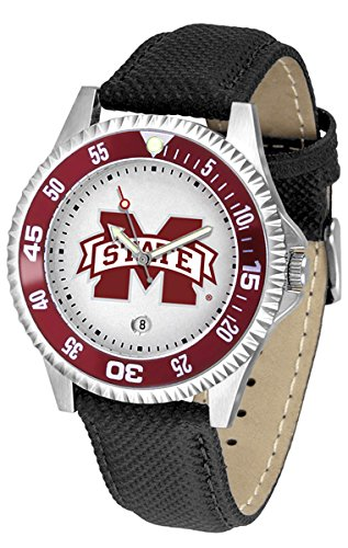 Mississippi State Bulldogs Leather Competitor Sport Watch