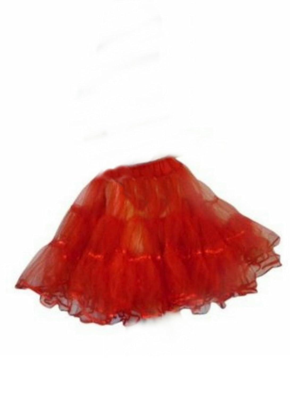 Petticoat Kleid für Petticoats für Tellerrock Tellerröcke Tanzkleid rot Gr. 34 - 44 P04
