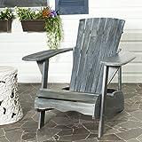 Safavieh Patio Collection Hampton Adirondack Acacia Wood Chair, Ash Grey