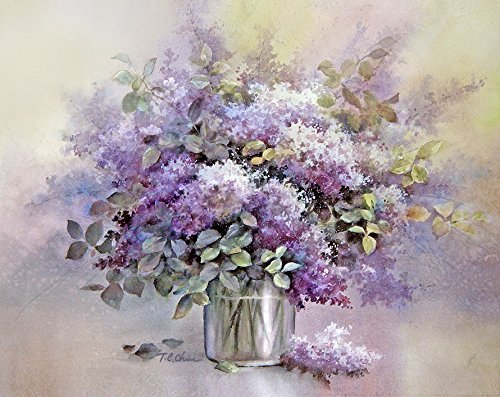 Amazon Com Lilac Flowers In A Vase Print Of Watercolor Painting