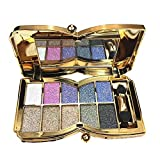 Glitter Eyeshadow Palette,10 Colors Sparkle Shimmer Eye Shadow Highly Pigmented Long Lasting Makeup Set Gold(Type 4)