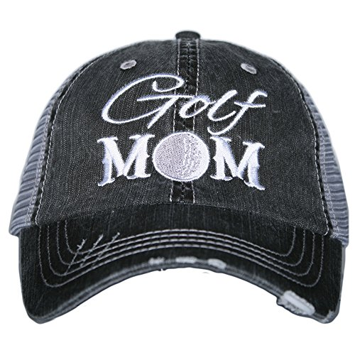Katydid Golf Mom Women's Trucker Hats Caps Gray