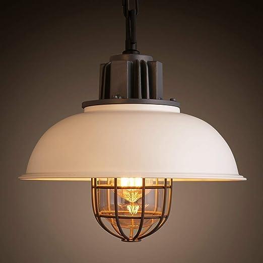 Tritow Cocina industrial vintage, lámpara de techo, jaula de metal ...