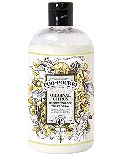 Poo-Pourri Before-You-Go Toilet Spray Refill Bottle, Original Plus Free 1 oz. Refillable Bottle, 16 oz. by Poo-Pourri