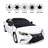 Alina-Shops - Car Windshield Cover Window Cover Sunshade Snow Covers Winter Summer Auto Sun Shade Protector with Mirror Covers Ice Snow Guard