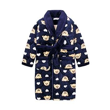 Pijamas dos piezas Bata de Noche Albornoz Infantil de Terciopelo Coral para niños. Modelos de otoño e Invierno engrosados en Pijamas de Franela para niños ...
