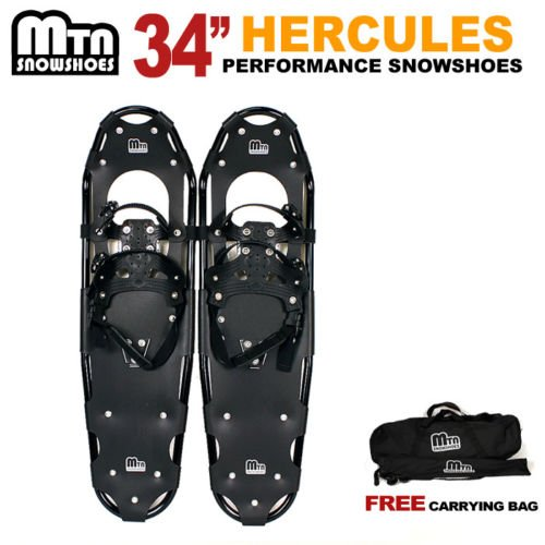 New MTN Extreme Lightweight All Terrian Man Woman Kid Teen Snowshoes up to 255 lbs /Free Bag - BLUE (34'' inch) by MTN Snowshoes