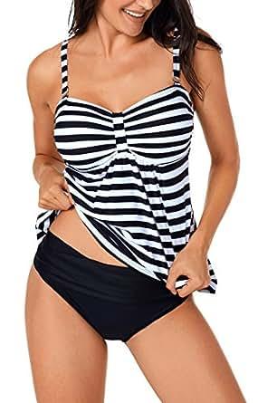 Angerella Swimsuit for Women Bikini Bathing Suits Swimwear Vintage Tankini Top