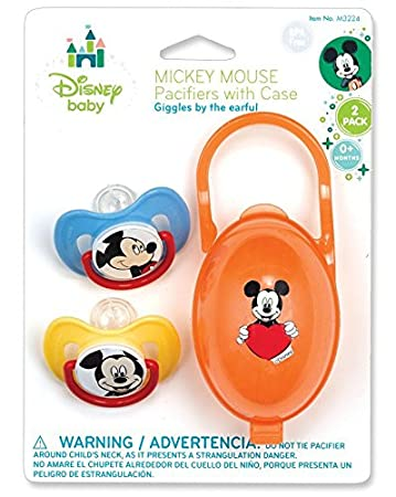 Amazon.com : Mickey/Minni Mouse Pacifiers & Pacifier Case ...